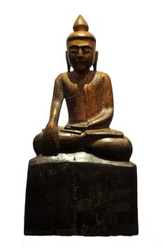 Sitting Buddha. Thailand (Lana), 19th century, made of teak wood. For more information about this and other amazing Asian/Buddhist antique products, please visit our website: www.sat-nam-art.com Sitting Buddha, Teak Wood, 19th Century, Thailand, Asian, Statue, Website, Antiques, Amazing