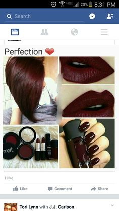 New hair color burgundy cranberry Ideas - Hairstyles For All All Things Beauty, Beauty Make Up, Hair Beauty, Real Beauty, Makeup Tips, Eye Makeup, Hair Makeup, Makeup Products, Makeup Ideas
