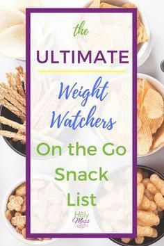 Diet Snacks The Ultimate Weight Watchers On the Go Snack List Plats Weight Watchers, Weight Watchers Snacks, Weight Loss Snacks, Healthy Weight Loss, Weight Watchers Program, Weight Watchers Points List, Healthy Detox, Healthy Snacks, Healthy Eating