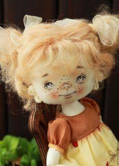 Handmade fabric doll | Купить или заказать Цыплятки будут... в интернет-магазине на Ярмарке Мастеров. Текстильная авторская кукла, рост около 36 см. Ручки-ножки болтаются. Одежда съемная. Волосы из овечьей шерсти. Стульчик в комплект не входит.
