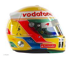Lewis Hamilton helmet, McLaren, 2012