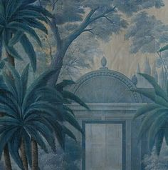 wallpaper for the inside of our wardrobe in new berdoom Interior Wallpaper, Chinoiserie Wallpaper, Fabric Wallpaper, Wall Wallpaper, Scenic Wallpaper, Grisaille, Inspirational Wallpapers, Himmelblau, British Colonial