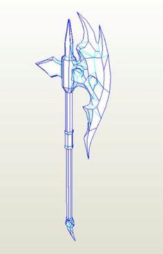 Skyrim - Ebony - Battle Axe Pepakura File on Onekura. Make your own costumes and accessories.