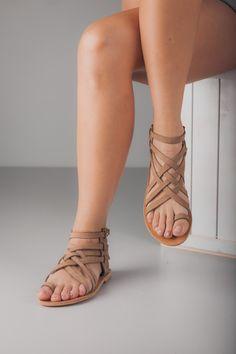 Handmade Greek Leather sandals women's size EU 40 nubuck