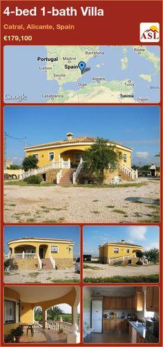 4-bed 1-bath Villa in Catral, Alicante, Spain ►€179,100 #PropertyForSaleInSpain