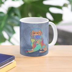 """kooky knitting kitty"" Mug by grumblebeeart | Redbubble Cat People, Cat Gifts, Cool Cats, Cotton Tote Bags, Cats And Kittens, Kitty, Mugs, Knitting, Little Kitty"
