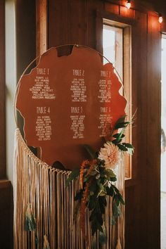Free Spirited Copper and Jade Washington Forest Wedding at Gold Mountain Golf Club A DIY seating chart made to look like a large dreamcatcher adorned with neutral blooms Forest Wedding, Boho Wedding, Wedding Blog, Wedding Events, Wedding Ideas, Wedding Favors, Seating Chart Wedding, Seating Charts, Bohemian Wedding Inspiration