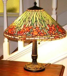 antique items art glass stained glass lamp