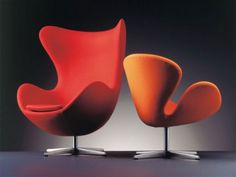 The stylish Egg Chair Loungechair Fabric was created by Arne Jacobsen for the Danish manufacturer Fritz Hansen.Arne Jacobsen was a prominent architect and furni Design Room, Home Design, Design Studio, Modern Interior Design, Chair Design, Contemporary Living Room Furniture, Contemporary Chairs, Danish Furniture, Art Furniture