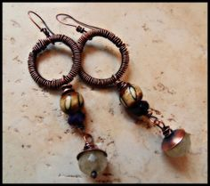 On Solid Ground Pure Copper with Amethyst and by SpiritIndigo
