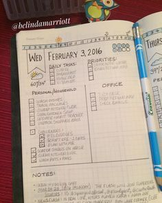 """February #PlanWithMeChallenge Day 3 (Part 2, Daily): Weekly? Daily? - Here is my layout for my Daily Page. This is a new layout that I decided to do by…"""