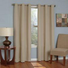 Microfiber Grommet Blackout Window Curtain Panels - BedBathandBeyond.com
