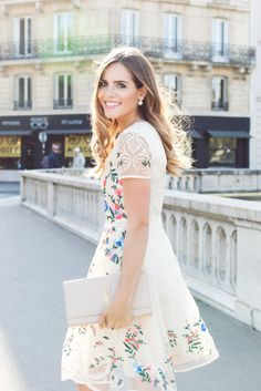 Garden Embroidered Beige Organza Dress  galmeetsglam