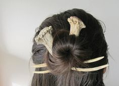 Hair Accessory Hair Stick Comb Fork Deer Antler Carving
