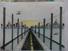 One point perspective road - could look at our Golden Gate Bridge photos for inspiration