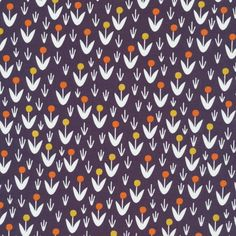 129712 Dotty Blooms Navy Quilter's Cotton from Morning Song by Elizabeth Olwen for Cloud9 Fabrics