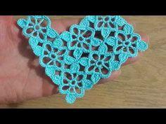video tutorial in Turkish Point Granny Au Crochet, Col Crochet, Crochet Motifs, Crochet Blocks, Crochet Diagram, Crochet Stitches Patterns, Crochet Squares, Irish Crochet, Crochet Doilies