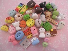 Polymer clay charms from you tuber cool rice bunnies