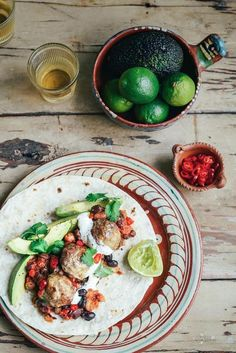 Mexican Meatball Wraps via From the Kitchen