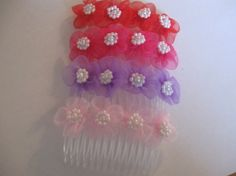 Pair of Organza Flowers Embellished by CraniumDecorAndMore on Etsy, $6.00