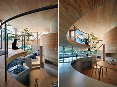 UID Architects, Japan. | yellowtrace blog »  Love the use of wood and round forms!