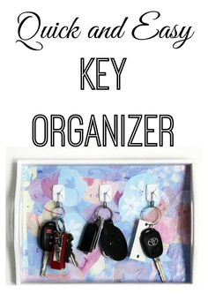 A key organizer is a great idea to make sure you never lose your keys again! With this quick and easy key holder tutorial, you'll get organized and create a beautiful piece of home decor at the same time.