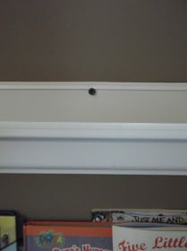 Wall Paint Color: SW 6109 Hopsack Well, they are sort of new:). We actually installed them in November, but I neve. Rain Gutter Shelves, Gutter Bookshelf, Kids Storage, Toy Storage, Old Room, Bookshelves Kids, Home Organization Hacks, Organizing, Wall Paint Colors