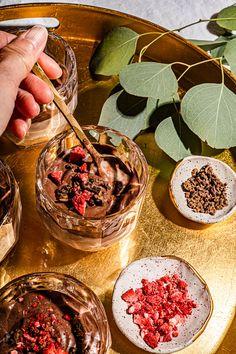 Tibok Tibok (Filipino Pudding) Recipe with Chocolate and Strawberry Layers