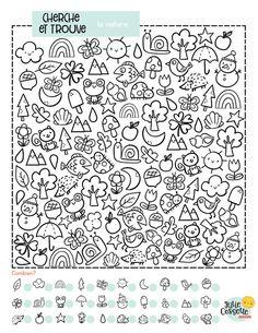 ACTIVITÉS — Julie Cossette Studio Art Therapy Activities, Kindergarten Activities, Learning Activities, Worksheets For Kids, School Worksheets, Cossette, Hidden Picture Puzzles, I Spy Games, Rainy Day Activities For Kids
