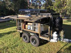 R.A.S.V. Off Road Camper Trailer - Off Road Designs Bug Out Trailer, Work Trailer, Off Road Camper Trailer, Trailer Build, Camper Trailers, Utility Trailer, Campers, Top Tents, Roof Top Tent