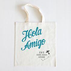 Just escape the winter like this! Hola Amigo http://shop.weddingchicks.com/hola-amigo-personalized-tote-set-of-20/