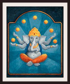 Ganesha Elephant print 11x14 by RustyAppleStudio on Etsy, $32.00