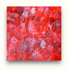 Red Nova Star  Abstract original painting by SarahGiannobile, $200.00