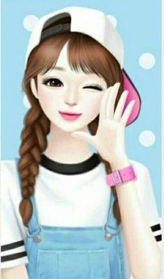 For who love anime Girl Cartoon Characters, Cartoon Girl Images, Cute Cartoon Pictures, Cute Cartoon Girl, Girly Pictures, Anime Girl Cute, Anime Art Girl, Cute Girl Hd Wallpaper, Cute Love Wallpapers