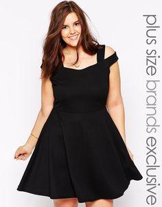 Pink Clove Bardot Strap Skater Dress