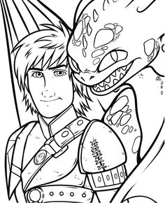 How to Train Your Dragon 2 - Hiccup and Toothless coloring page Chibi Coloring Pages, Dragon Coloring Page, Coloring Pages For Boys, Colouring Pics, Printable Coloring Pages, Coloring Books, Toothless Dragon, Hiccup And Toothless, Dragon 2