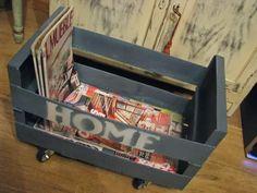 Diy: Un revistero con una caja de frutas : x4duros.com