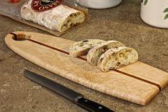 Tabla para cortar pan gourmet en pájaro arce y caoba