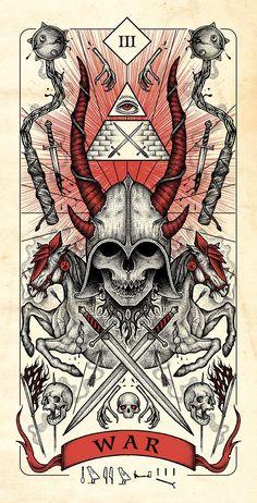 Four Horsemen of Apocalypse Tarot Cards Artwork Released in Higher Quality. – X-Men Films Arte Horror, Horror Art, Dark Fantasy Art, Dark Art, Apocalypse Art, Apocalypse Survival, Theme Tattoo, Satanic Art, Arte Obscura