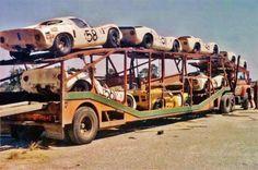Porsche car transporter