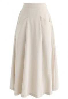 Pure Memories A-Line Skirt in Cream - NEW ARRIVALS - Retro, Indie and Unique Fashion