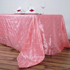"90"" x 156"" Rose Quartz Taffeta Pintuck Rectangular Tablecloth Tablecloth Sizes, Floral Tablecloth, Tablecloths, Different Light, Mothers Day Decor, Pin Tucks, Spring Wedding Decorations, Table Overlays, Wedding Linens"