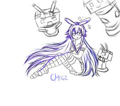My WIP Shimakaze from Kantai Collection