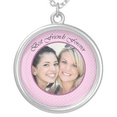 BFF Photo Silver Plated Necklace