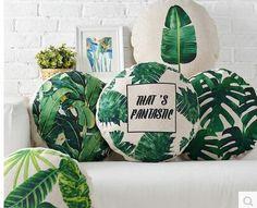 Aliexpress.com: Comprar Planta Tropical almohada verde plantas de hojas tiro Sofa decorativo lino algodón almohada cubre 45 cm de cubierta para el iphone 4 fiable proveedores en We are The ONE