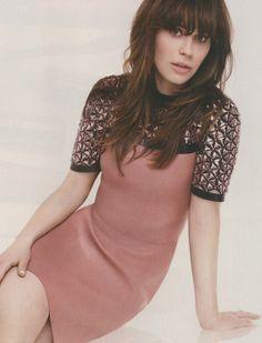 Who made Zooey Deschanel's pink short sleeve dress? Short Sleeve Dresses, Dresses With Sleeves, Kristin Cavallari, Instyle Magazine, Rachel Bilson, Cute Cuts, Zooey Deschanel, Nicole Richie, Pippa Middleton