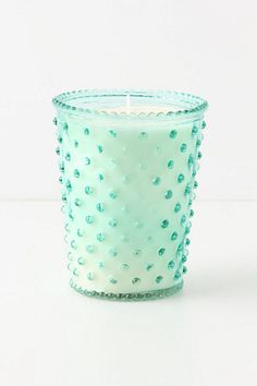 Simpatico Hobnail Glass Candle 16 Oz Marine * Check out this great product. Eclectic Candles, Unique Candles, Home Candles, Beautiful Candles, Diy Candles, Scented Candles, Verde Aqua, Objet Deco Design, Cottage In The Woods