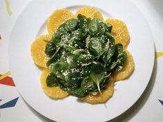 Rezept: Frischer Spinatsalat mit Orange