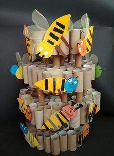 VOSÍ HNÍZDO | Výtvarná výchova : konstruovat z toaletních ruliček prostorovou stavbu vosího hnízda (prostorová tvorba z ruliček) Pre School, Preschool Activities, Kindergarten Activities