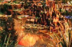 "Erdle - Giverny, Pond Series, Dusk 40"" x 60"" 1995"